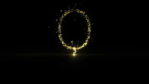 Balloon Sparkling Golden glitter Spiral lens effect Live Action