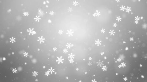 Clean White Abstract Falling snow flakes Snowflakes Particles 4K Loop Animation Live Action