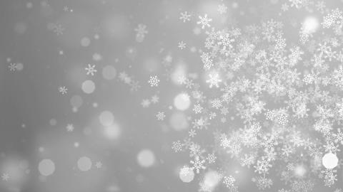 White Abstract Falling snow flakes Snowflakes Particles 4K Loop Animation Live Action