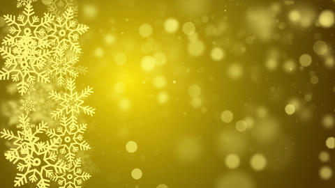 Golden Abstract Falling snow flakes Snowflakes Particles 4K Loop Animation Live Action