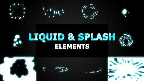 Liquid and splash elements Motion Graphics Template