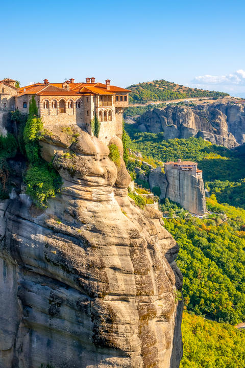 Rock Monasteries in Sunny Weather Photo