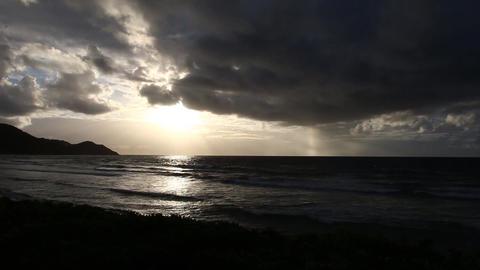 カリブ海の朝日002 Footage