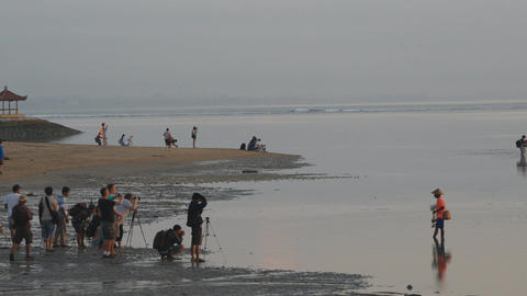 Morning scenery of Sanur Beach, Bali Footage