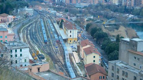 Departure train station, Tivoli. Italy Footage