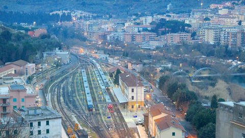 Arrival of a Train at Tivoli. Italy Footage