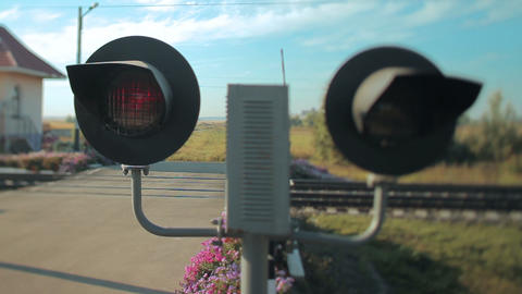 Railroad crossing Footage