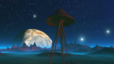 Extraterrestrial Creature on an Alien Planet Animation