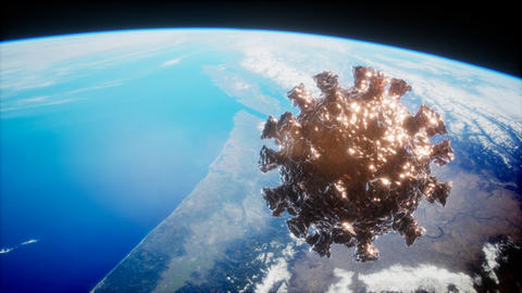 Coronavirus COVID-19 asteroid near Earth Live Action