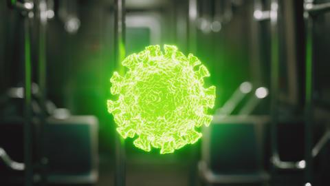 coronavirus covid-19 epidemic in subway car Live Action