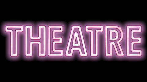 Pink Theatre Sign Animation