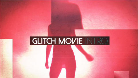 Glitch Movie Opener After Effectsテンプレート
