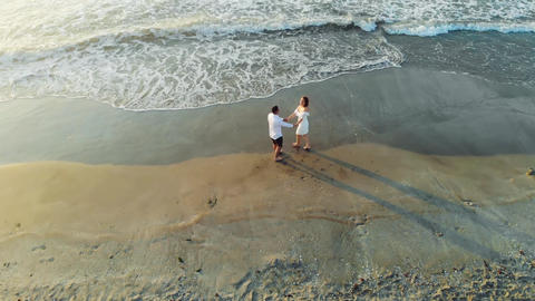Save the Date Drone Session on the Beach Live Action