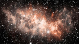 Galaxy in open space. Many stars in black space. Video footage 4K Live Action