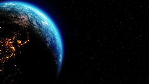Realistic Motion Graphics of Planet Earth Rotating in the…, Live Action
