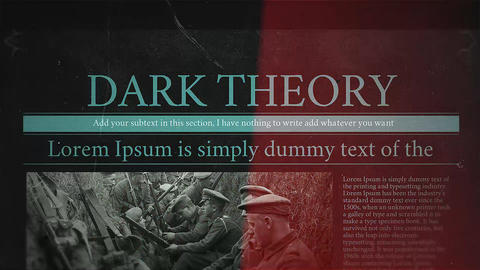 Dark Theory After Effectsテンプレート