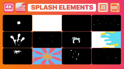 Splashes And Titles After Effects Template