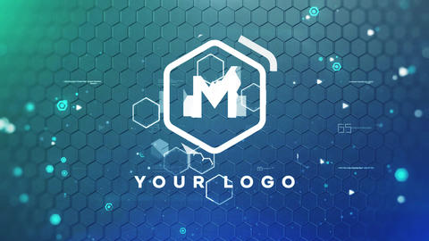 Technology Ground Logo After Effects Template