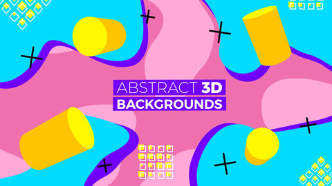 Abstract 3D Backgrounds After Effects Template