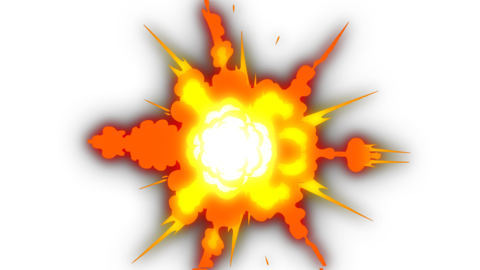 Explosion Elements 2D Cartoon FX 4K (animation) Animation