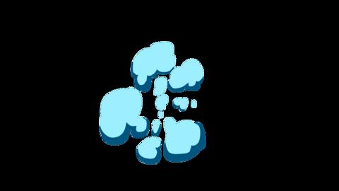 Smoke Elements 2D Cartoon FX 4K (animation) Animation
