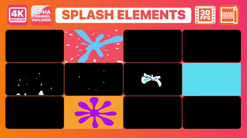 Splashes And Titles Motion Graphics Template