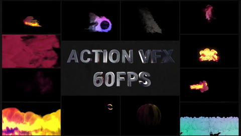 Action VFX Elements Apple Motion Template