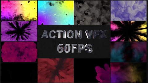 Action VFX Transitions Pack After Effectsテンプレート
