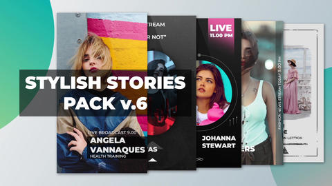 Stylish Stories Pack v 6 After Effects Template