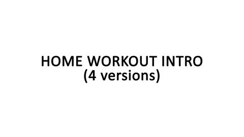 Home Workout Intro After Effects Template