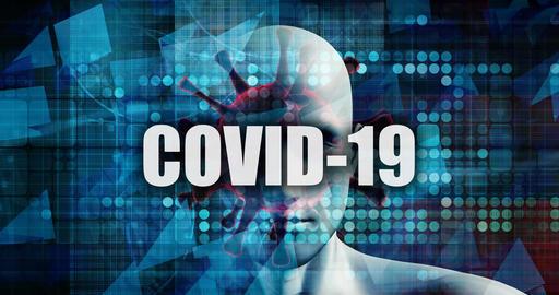 Covid-19 News Headline Concept Background Concept Art Live Action