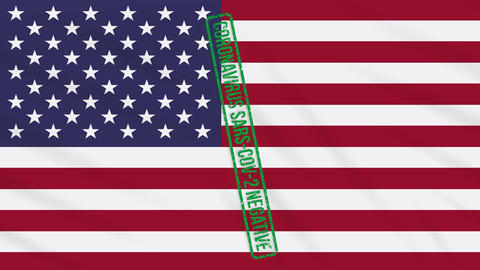 Flags With Stamp Of Freedom From COVID Loop 1