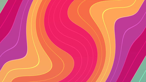 Motion abstract geometric shapes, colourful liquid background Animation