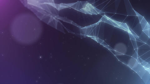 Plexus abstract network titles cinematic background 31 Animation