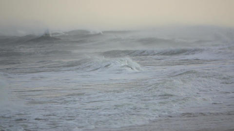 Drama of a raging storming sea Footage