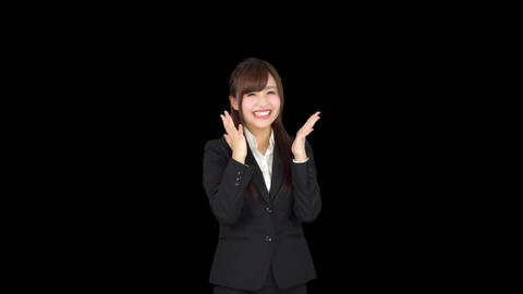 Young Japanese business woman motivated Footage