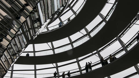 The dome of the Reichstag Building Footage