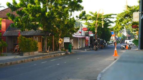Sanur Danau Tamblingan street(time lapse) Footage