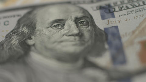 Financial crisis, one hundred dollar bill, U.S. money, inflation Footage