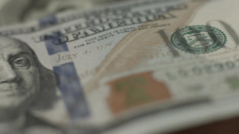 U.S. national currency, 100 dollar bill closeup, money, finances Footage