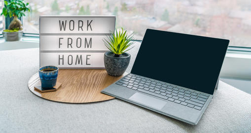 Working from home remote work inspirational social media lightbox message board