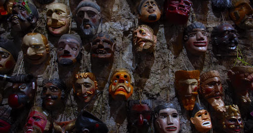 Gothic Scary Religious Masks in Middle America Live Action