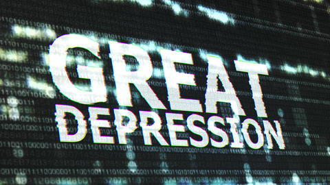 4K Great Depression Corrupted Signal Notification Display 3 Animation
