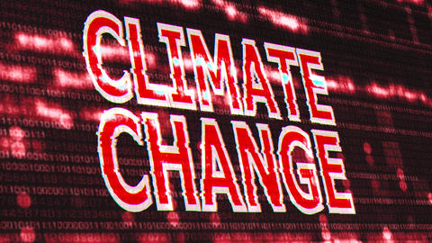 4K Climate Change Corrupted Signal Notification Display 3 Animation