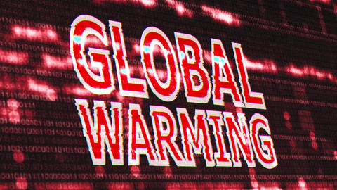 4K Global Warming Corrupted Signal Notification Display 3 Animation
