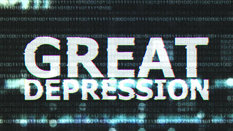 4K Great Depression Corrupted Signal Notification Display 4 Animation