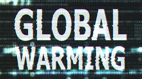 4K Global Warming Corrupted Signal Notification Display 2 Animation