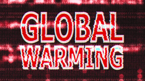 4K Global Warming Corrupted Signal Notification Display 4 Animation