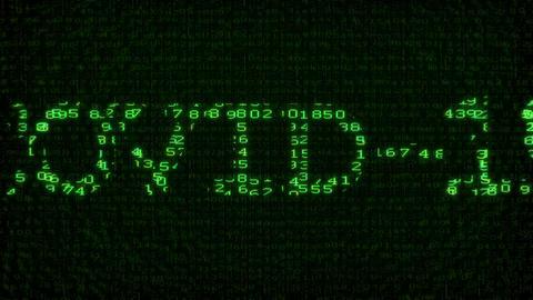 Covid-19 Test - Digital Data Code Matrix Animation