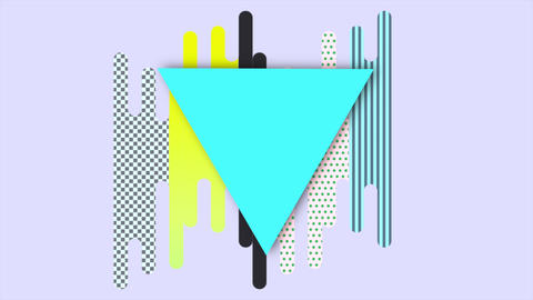 Motion abstract geometric shapes, colourful background Animation